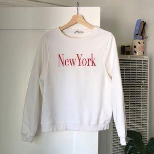 Mango New York graphic sweatshirt